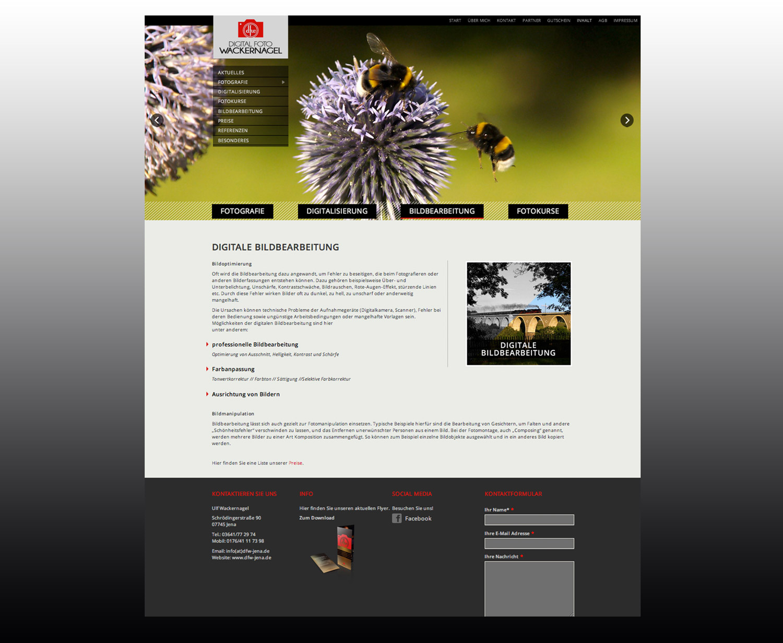 Webdesign für Ulf Wackernagel. Grafik Design Studio / Werbeagentur Erfurt