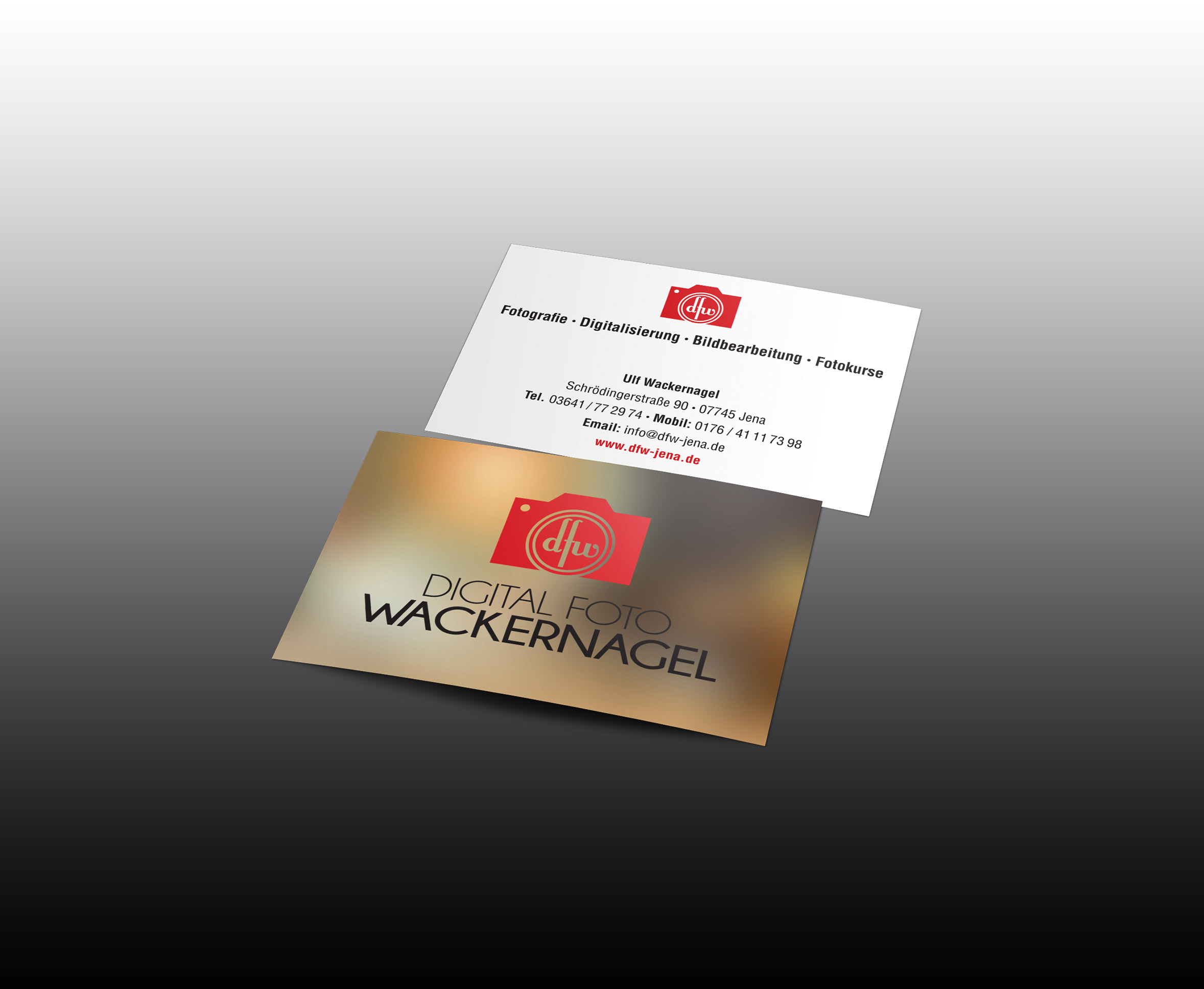 Visitenkarten Design. Logodesign Digital Foto Wackernagel
